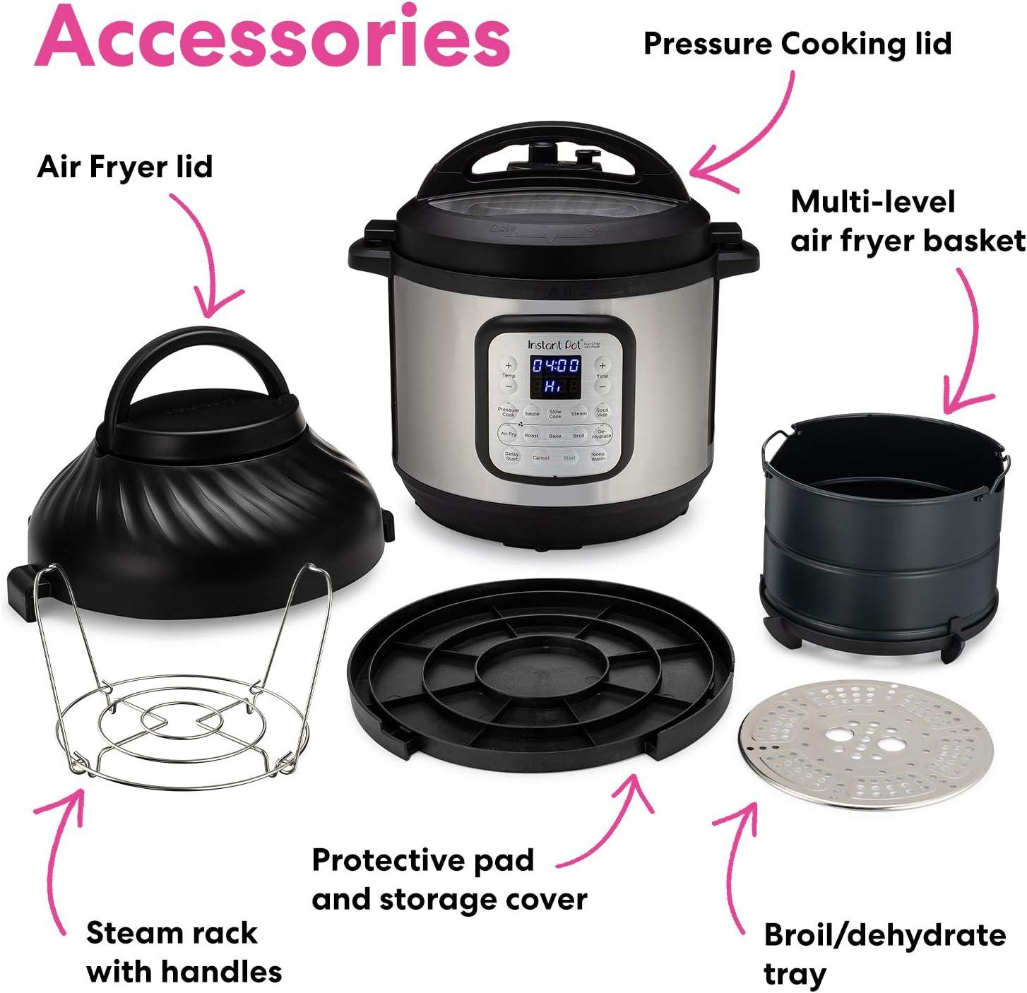 Instant Pot Duo Crisp Pressure Cooker 11 in 1 with Air Fryer