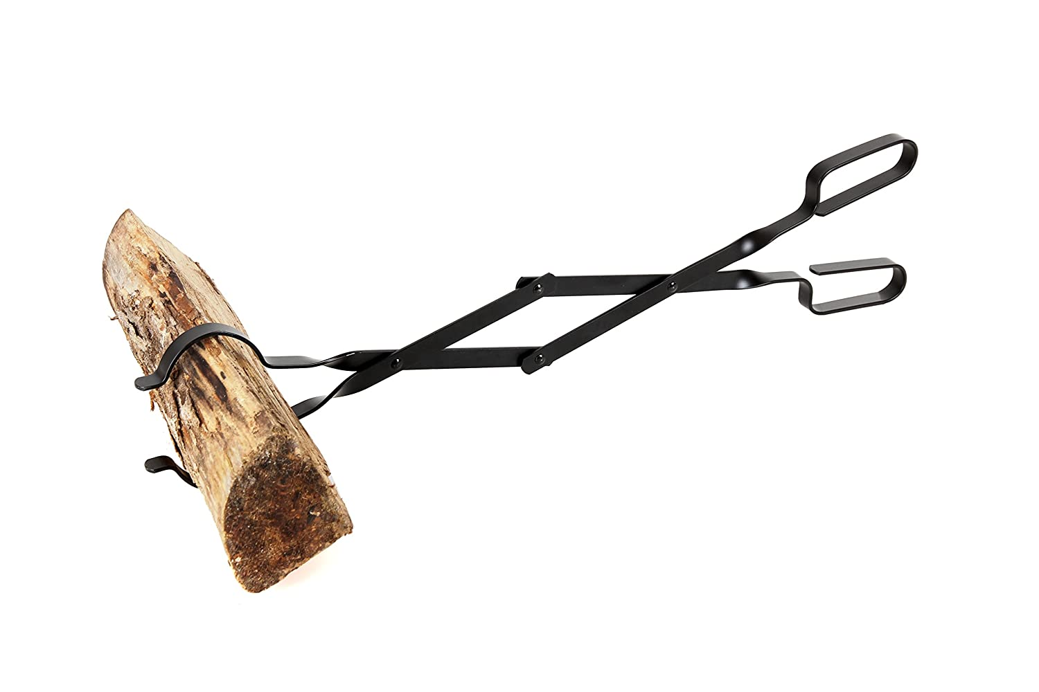 "Epica Fireplace Tongs, 26"" Long, Log Grabber"