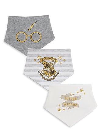 72633dd0f Atmosphere Primark Harry Potter Dribble Bibs~Newborn~0-3~3-6~6-12 Months~3  Pack~Stud Fastening: Amazon.co.uk: Clothing