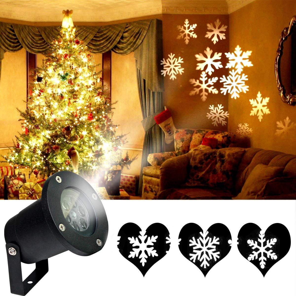 Christmas LED Laser Snowflake Projector Xmas Garden Snow Landscape Decor Lamp US
