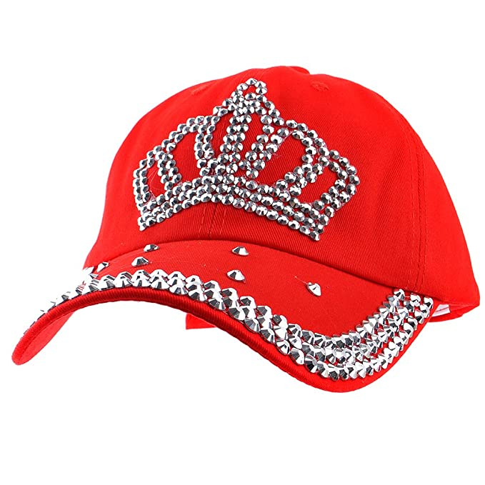 5a759a37f1c Image Unavailable. Image not available for. Color  Elonmo Bling Hats ...