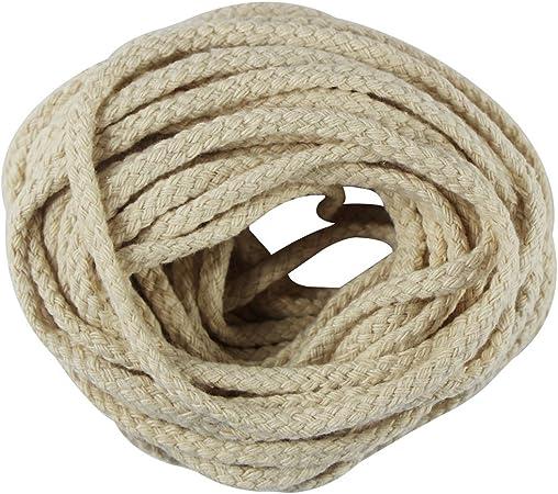 EDGEAM Cordón Algodón trenzado cuerda natural Algodón Cuerda 10 mm ...