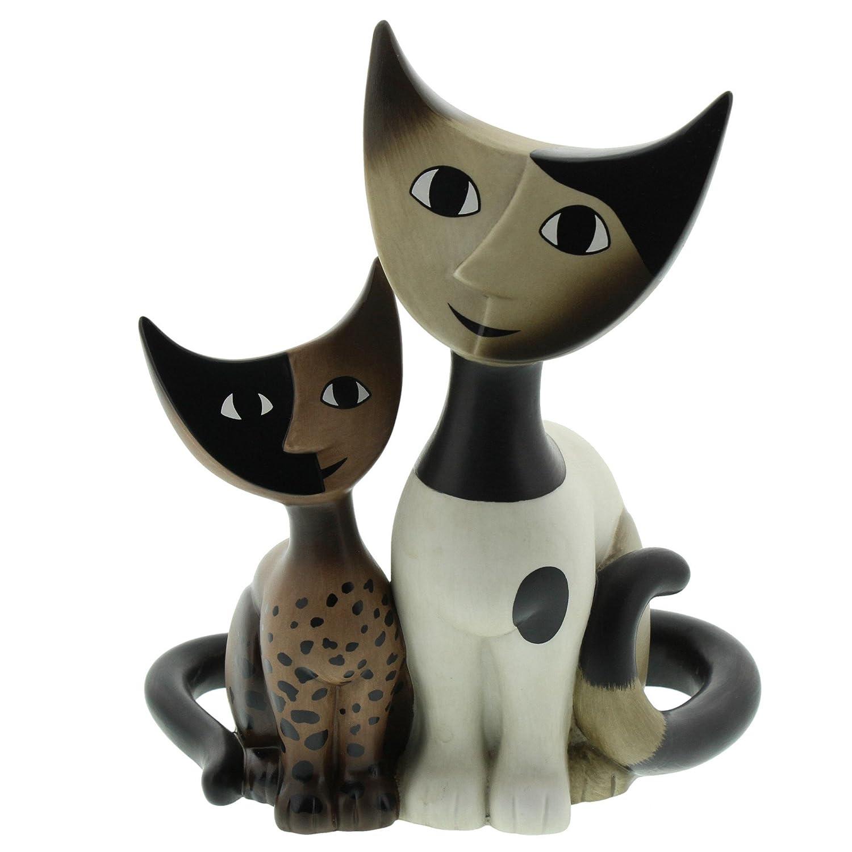 Goebel Porzellan-Katzenpaar, Rosina Wachtmeister, Elsa e Fermo, Höhe  17 cm, Weiß, Gold, Schwarz, 31168021