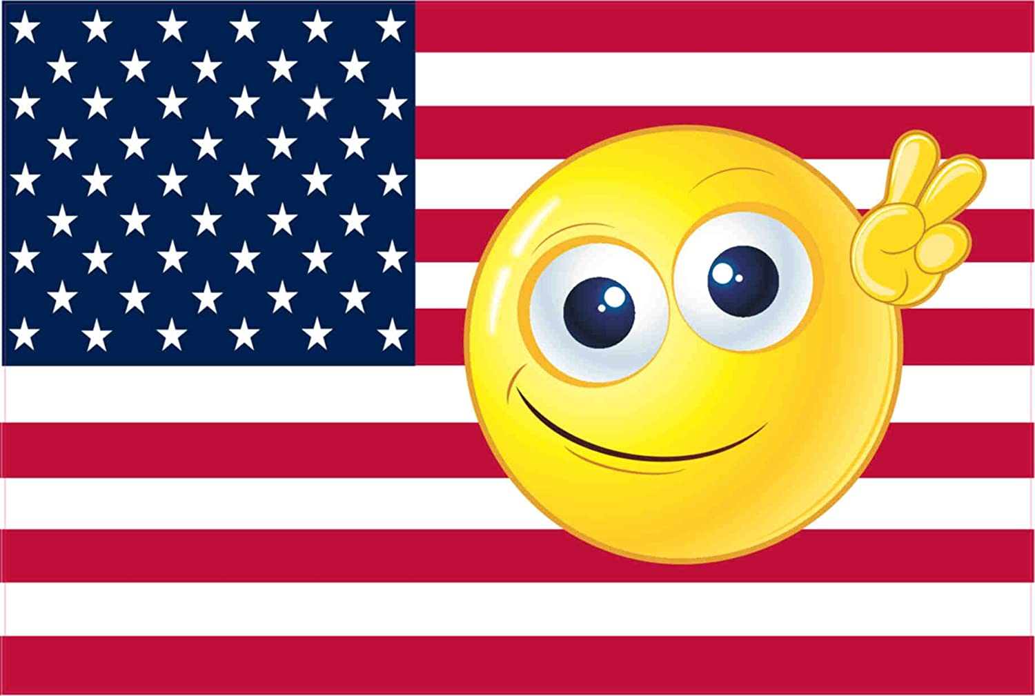 Amazon com: StickerTalk Emoji USA Flag Magnet, 6 inches by 4 inches