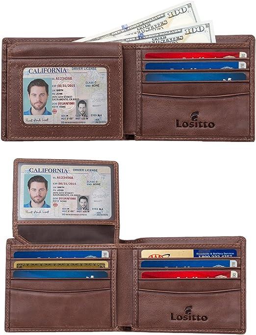 New Mens Handcrafted Bi-Fold Wallet LL California Walking Bear