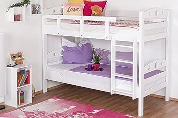 Etagenbett 180 90 : Polini kids hochbett jugendbett kinderbett etagenbett weiß