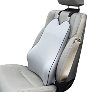 Dreamer Car Lumbar Support for Car Seat Driver- Supportive and Comfortable Memory Foam Back Cushion Back Support for Car for Lumbar/Back Pain Relief -Gray
