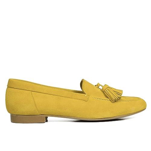 b5c533135a3 Zapatos miMaO. Zapatos Piel Mujer Hechos EN ESPAÑA. Mocasín Mujer. Slippers  Mujer. Zapatos Planos. Zapato Cómodo Mujer con Plantilla Confort Gel   Amazon.es  ...