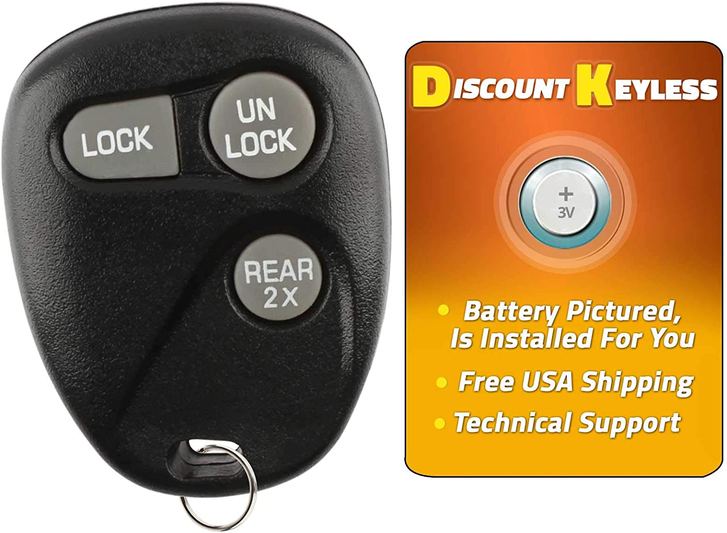 Discount Keyless Replacement Key Fob Car Remote Compatible with ABO1502T 16245105 LYSB01HQK0I6C-ELECTRNCS 16245100-29