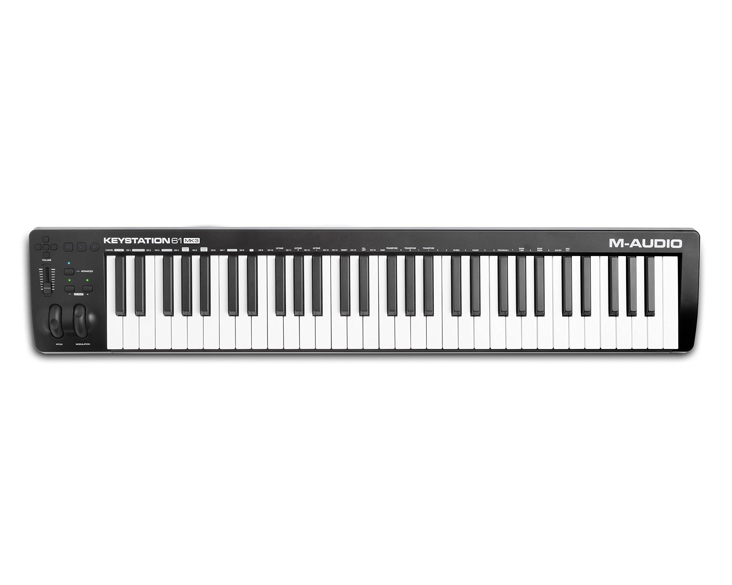 M-Audio Keystation 61MK3 | Compact Semi-Weighted 61-Key USB-Powered MIDI Keyboard Controller by M-Audio (Image #6)
