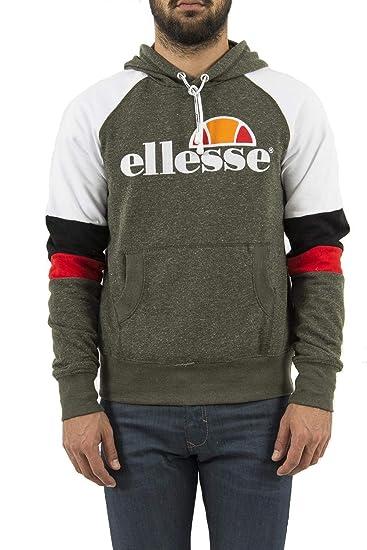 e9fdc1315 Ellesse Eh H Hoodie Tricolore Blanc/Kaki, Sweatshirt - XL: Amazon.co.uk:  Clothing