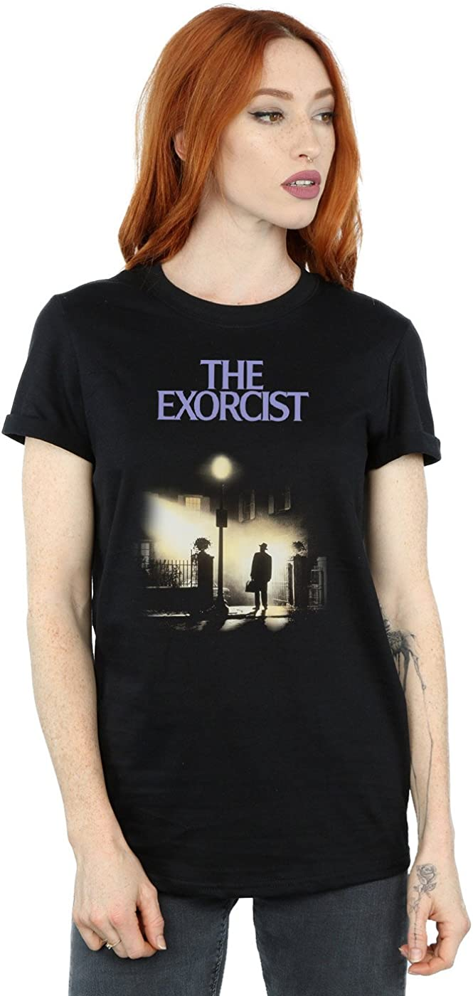 The Exorcist Womens Classic Poster Boyfriend Fit T-Shirt