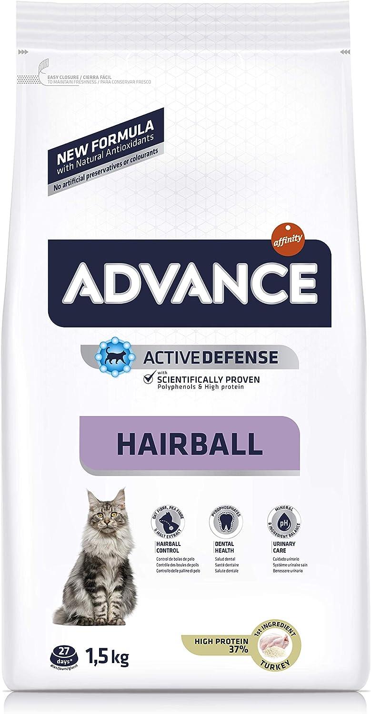 Advance Hairball Pienso para Gatos con Pavo - 1,5KG: Amazon.es: Productos para mascotas