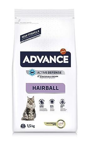 Advance pienso para Gato de Bolas de Boas cerdas y arroz 1,5 kg - Pack de 8: Amazon.es: Productos para mascotas