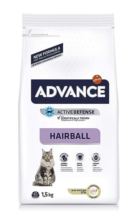 Advance Hairball - Pienso para Gatos con propensión a Formar Bolas ...