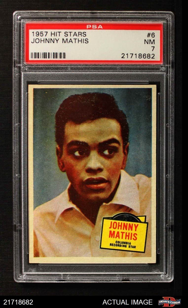 1957 Topps # 6 Johnny Mathis (Card) PSA 7 - NM 71a25DCcnJLSL1250_