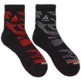 adidas Men's High Quarter Socks (2-Pack), Black