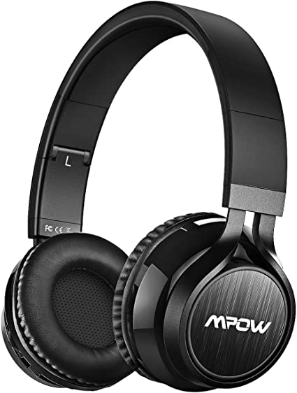 Mpow Thor Cuffie Bluetooth, Cuffie Over Ear Pieghevole, Auricolari Wireless Senza Fili, Cuffie Con Microfono Incorporato, Cuffie Wireless Con Audio