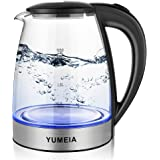 Tea Kettle Electric 1.8L Electric Kettle with Blue Light and Cordless BPA-Free Hot Water Kettle Electric,Auto Shut-Off & Boil