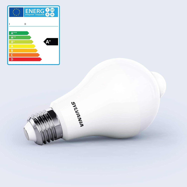Sylvania Presence Sensor infrarrojo de bombilla A65 1055lm 830=3000 K E27: Amazon.es: Bricolaje y herramientas