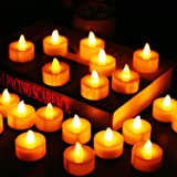 Flameless Candles, LED Tea Light Candles With Battery-Powered wedding Candles Decorations For Parties Events Tealight Candles (24 Pack)