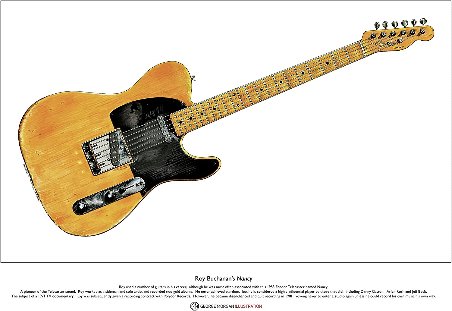 George Morgan Illustration Guitarra Nancy Telecaster de Roy ...