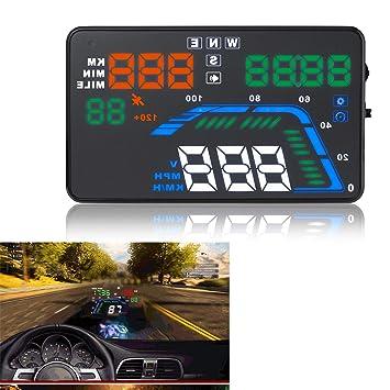 """GPS Sistema Coche HUD 5,5""""Pantalla Parabrisas LED Proyector Cabeza Hasta Pantalla Con"""