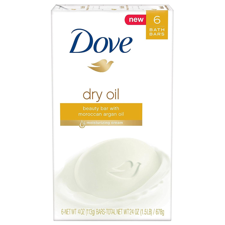Dove Beauty Bar, Dry Oil, 4 oz, 6 Bar