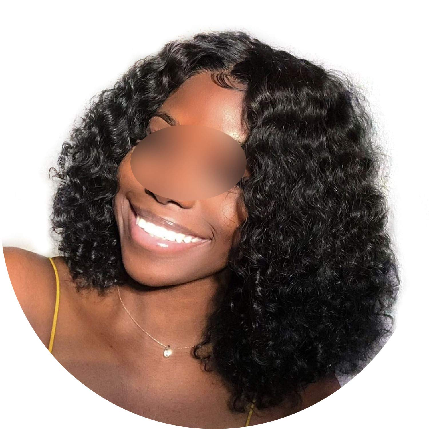 Curly Human Hair Wig Pre Plucked With Baby Hair Bob Wig Short Lace Front Human Hair Wigs For Women 180% Density,10Inches,180%