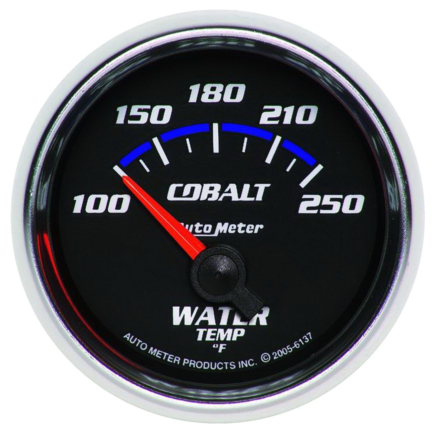 Auto Meter 6137 Cobalt Short Sweep Electric Water Temperature Gauge by AUTO METER