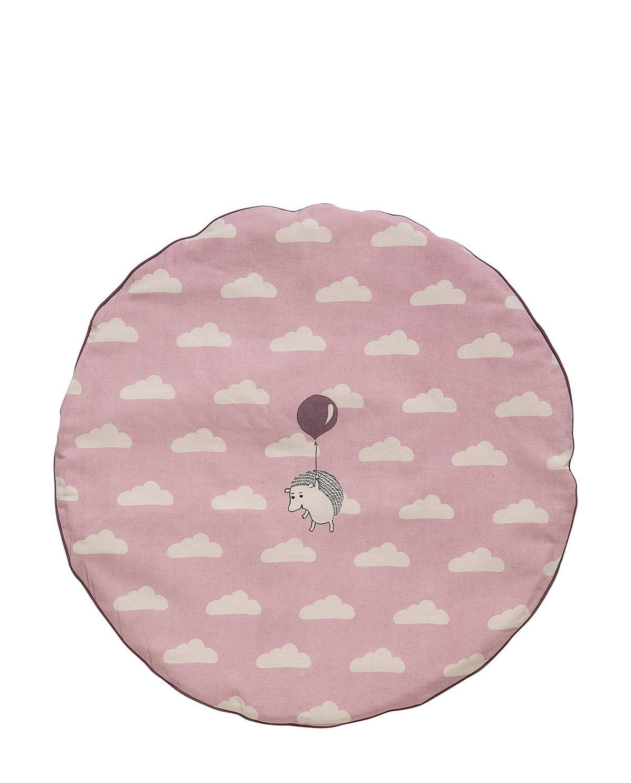 Bloomingville Tappeto gioco imbottito color rosa cipria/viola/bianco sporco .