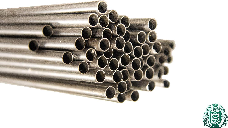 Tubo in acciaio inox a parete sottile da 5-12 mm V2A 0,33 m 304 rotondo 1.4301