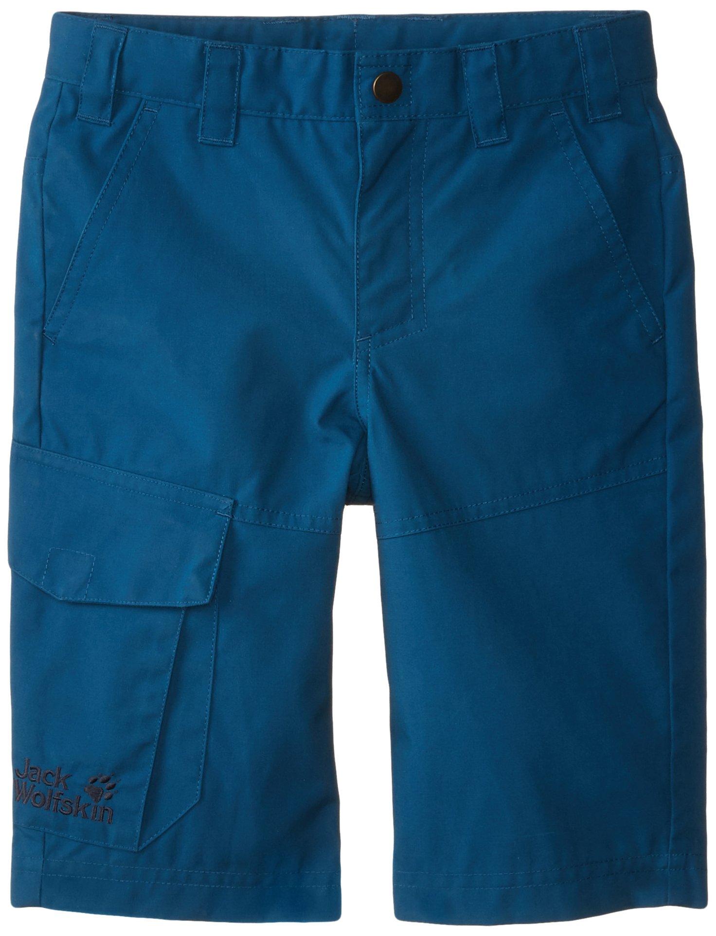 Jack Wolfskin Boy's Amber Road F65 Shorts, Moroccan Blue, 104