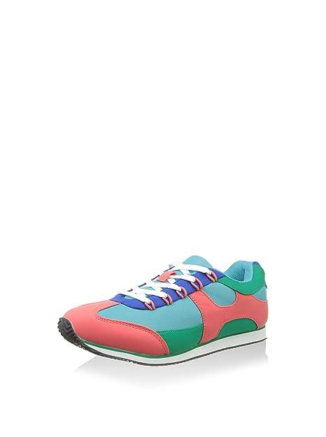 Springfield Zapatillas Verde/Fresa EU 39: Amazon.es: Zapatos y complementos
