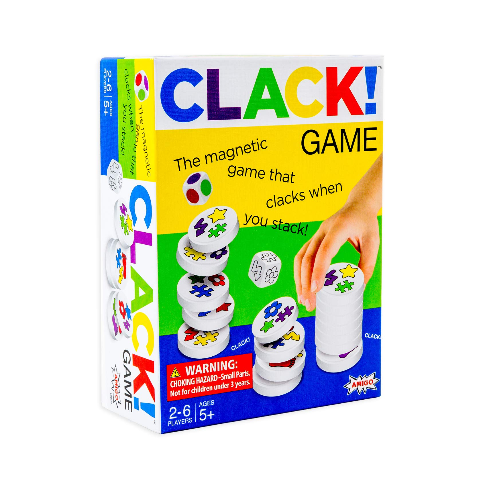 CLACK! Kids Magnetic Stacking Game with 36 Magnets by Amigo Games