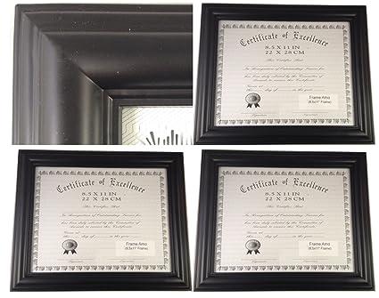 Marco amo negro 8,5 x 11 certificado documento marco, 1,2 \