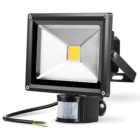 Amzdeal 20W Projecteur extérieur LED avec détecteur de mouvement ...
