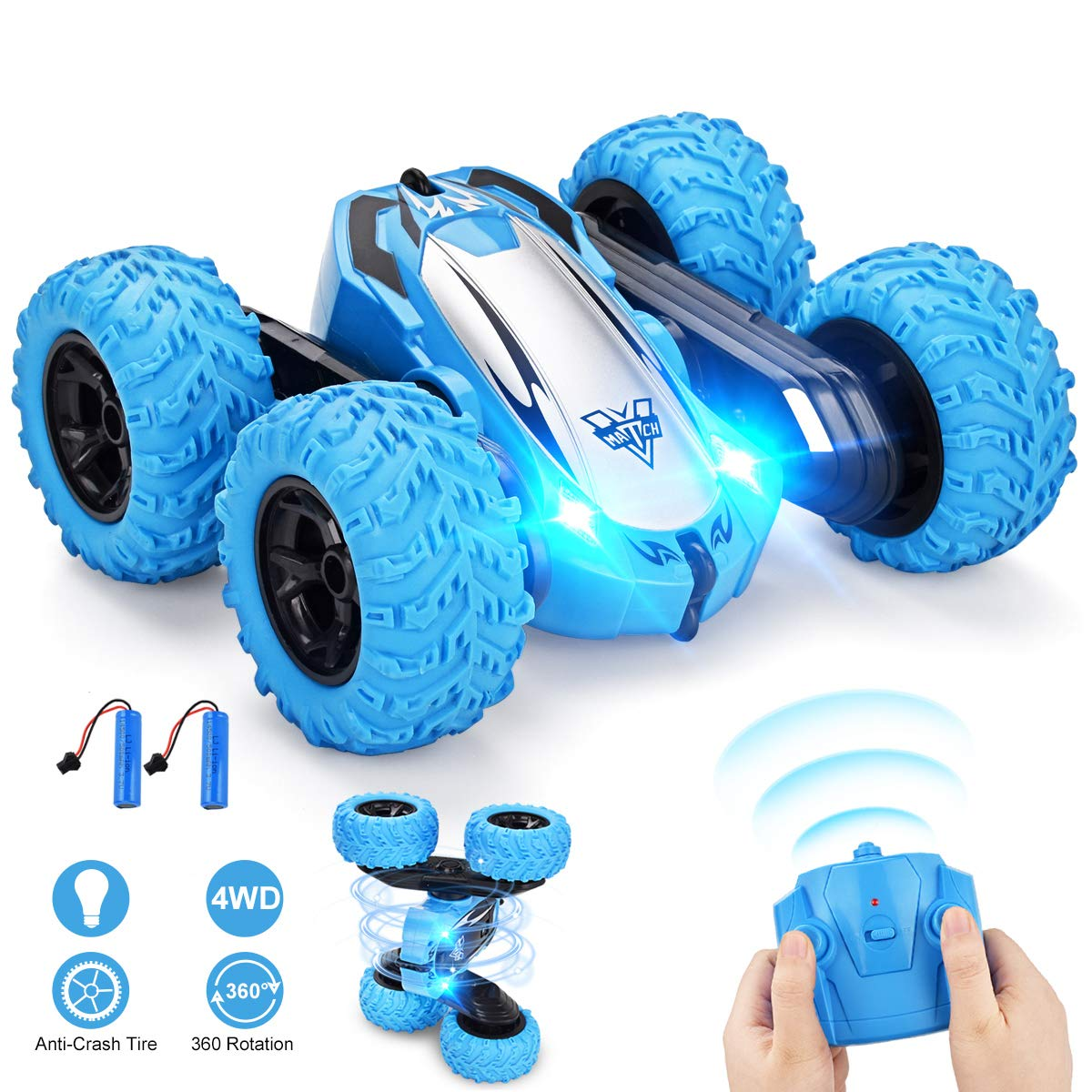 Remote Control Car, Villana RC Cars 4WD 2.4GHz Stunt Car Double Sided 360° Flips Remote Control Toys for Kids Christmas Birthday Gifts
