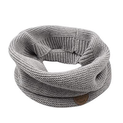 XIAOHAWANG Baby Winter Scarf Kids Thick Knit Scarves Toddler Neckerchiefs lovely (grey): Clothing