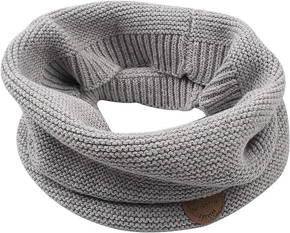accsa Kids Girl Boy Winter Soft Chunky Knit Neck Wrap Scarf