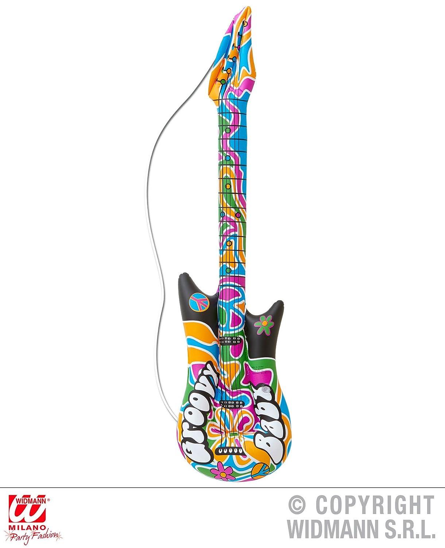 Hippie - Guitarra - , 105 cm, hinchable, 60 años 70 Groovy Flower ...