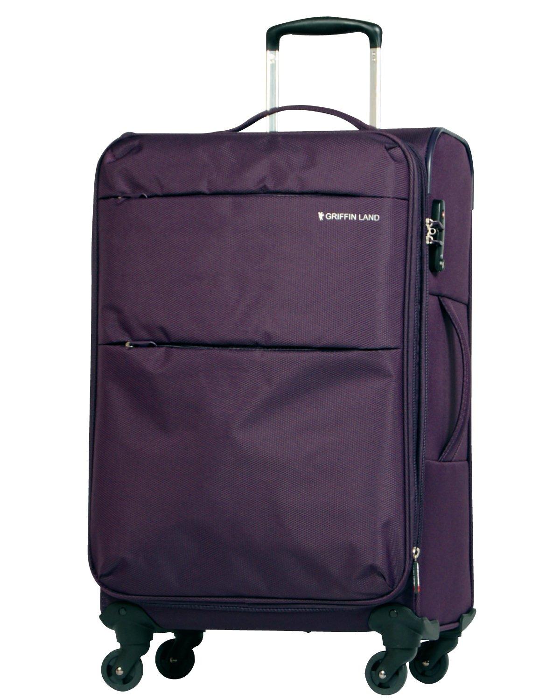 [グリフィンランド]_Griffinland TSAロック搭載 スーツケース ソフトタイプ  超軽量 AIR6327(solite) ファスナー開閉式 S型国内国際線機内持込可 5色3サイズ B01ASVUAZ0 S(小)型|プリュム プリュム S(小)型