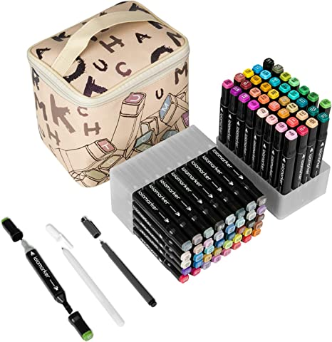 Double Tipped Color Marker Set Highly Pigmented N Vibrant Fast Drying 120 Color