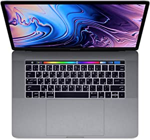 HRH Arabic Language Silicone Keyboard Cover Compatible with MacBook Pro with Touch Bar 13 Inch and 15 Inch (A2159/A1989/A1706,A1990/A1707) 2019 2018 2016 2017 Release USA Version,Black