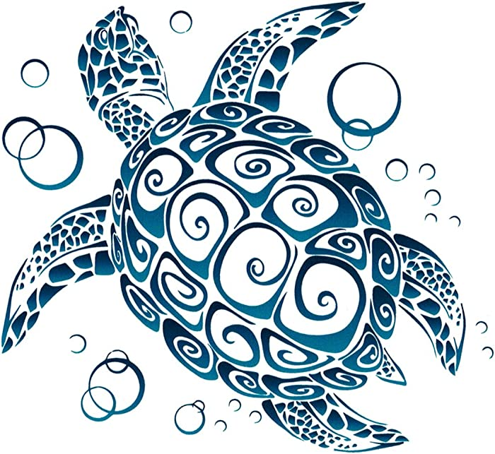 Top 10 Tribal Turtle Laptop Stickers