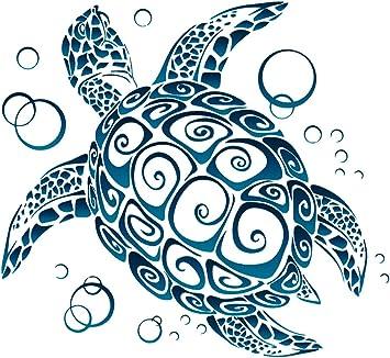 Amazon Com Unique Bright Sea Turtle Tribal Window Sticker Decal
