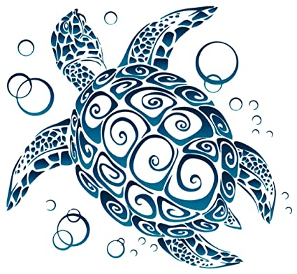Sea turtle tribal window sticker decal 5