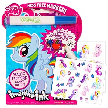my little pony imagine ink book set includes mess free marker and stickers - Imagine Ink Coloring Book