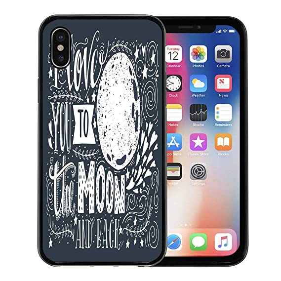 Amazon Com Emvency Iphone Case For Iphone X Case Wedding I Love You