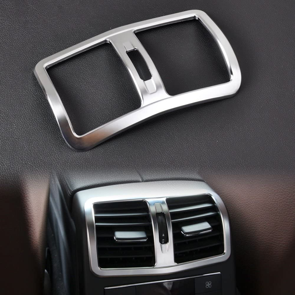 Chrome Armrest Back Air Outlet Cover Trim 2pcs For Jeep Grand Cherokee 2014-2018